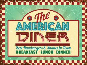 American Diner Wall Sign. Wall Art for the Garage