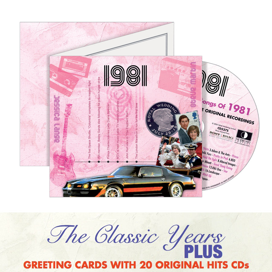 1980 To 1989 The Classic Years Cd Greeting Card
