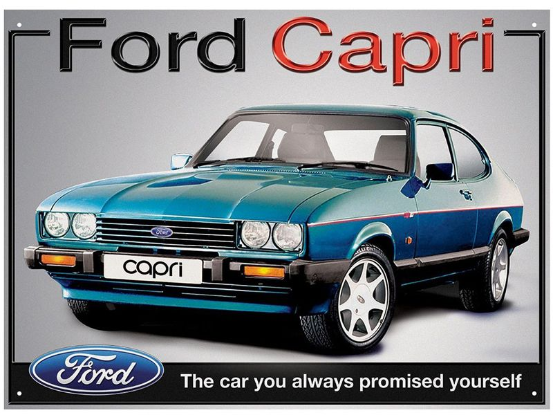 Ford Capri Metal Wall Sign