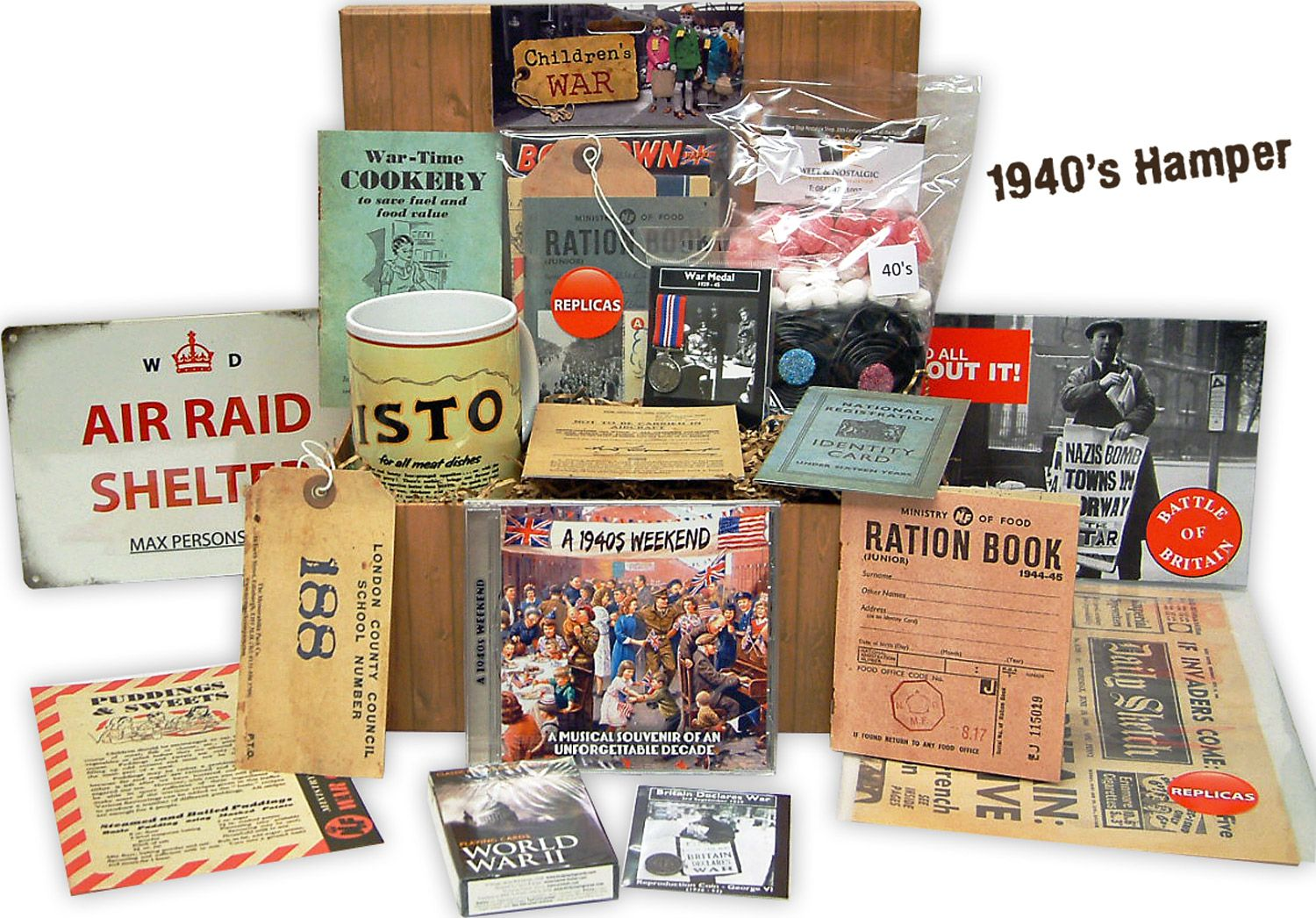 1940 S Nostalgic Hamper 70th Birthday Gift Idea