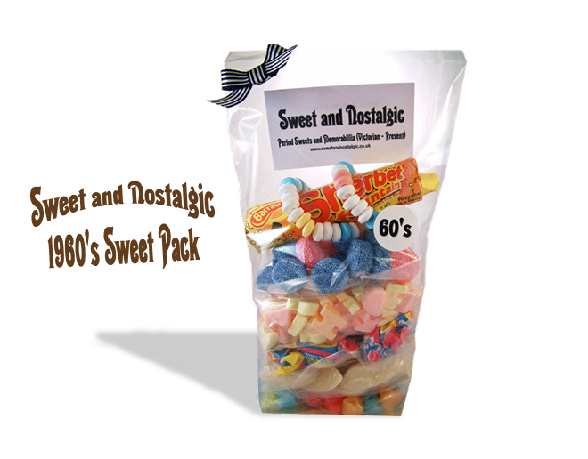 1960's Retro Sweets Pack | 50th Birthday Gift Idea | Corporate Gift Ideas