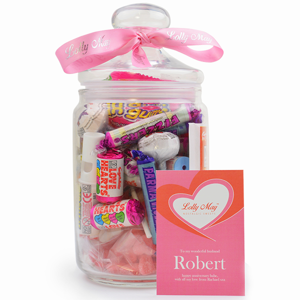 Love' Lolly May Glass Sweet Jar