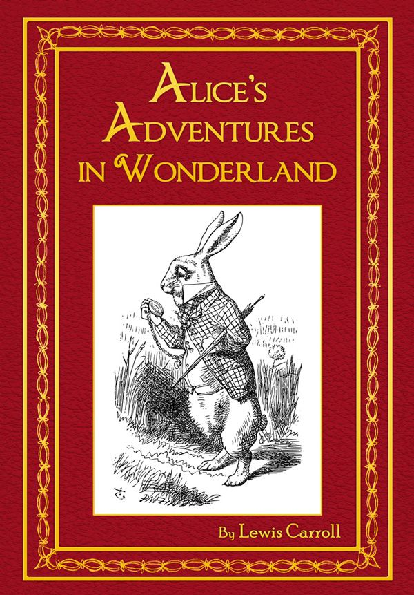 Alice In Wonderland Classic Book Cover : Alice in wonderland personalised novel