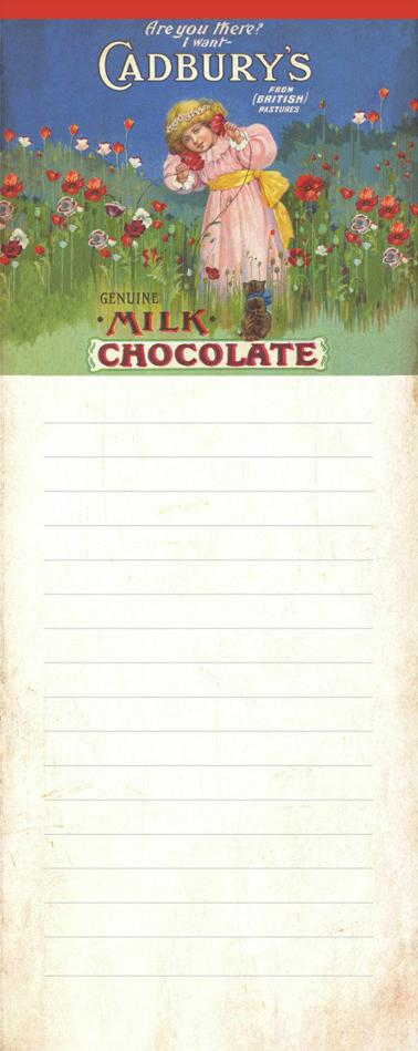 Cadbury's Girl Magnetic Memopad