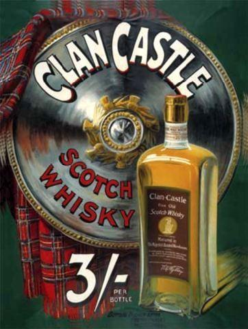 Clan Castle Whiskey Metal Wall Sign (2 sizes)
