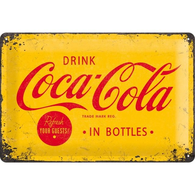 Coca Cola Yellow Sign- 3D  Metal Wall Sign