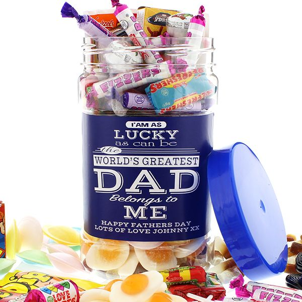 Dad's Sweets.. Personalised Sweetie Jar (Medium) | Perfect Father's Day Gift