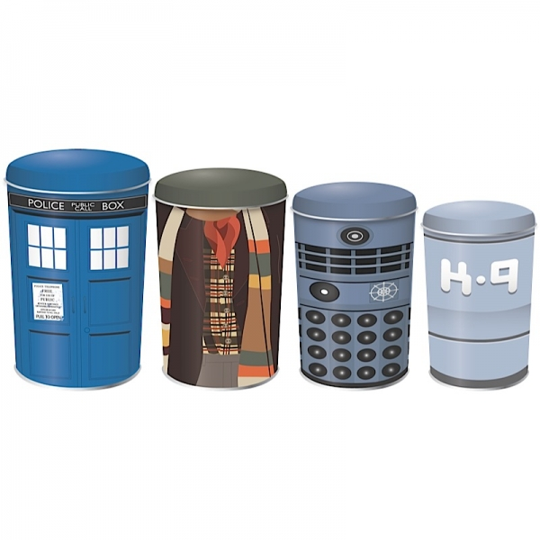 Doctor Who Stacking Tins (Set of 4)