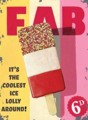 FAB Lolly - Metal Wall Sign (3 sizes)