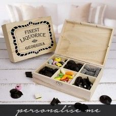 Finest Liquorice Wooden Sweet Box| Liquorice gifts | Father's Day Gifts
