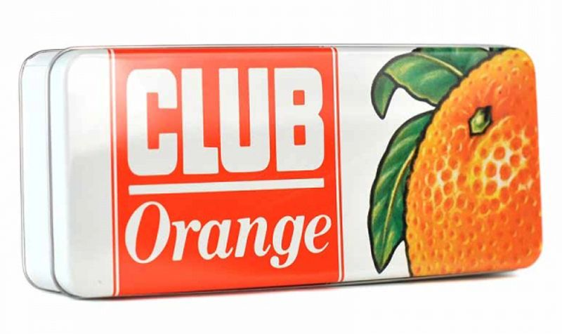 Jacobs Club Orange Storage Tin Rectangular