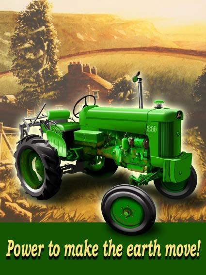 John Deere Tractor - Metal Wall Sign (2 sizes)