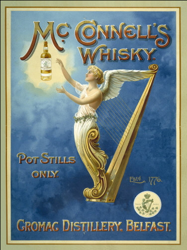 McConnell's Whiskey Metal Wall Sign | Home Bar Sign | Vintage Advertising Sign