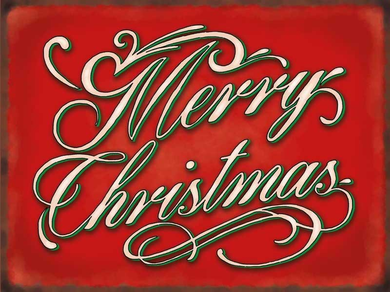 Merry christmas metal wall sign sizes