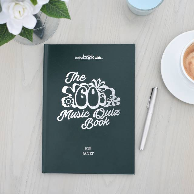 Personalised Music Quiz Book 1960's | Sweet and Nostalgic