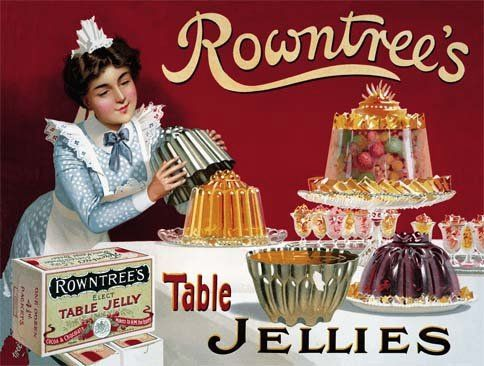 Rowntree's Jelly Metal Wall Sign (3 sizes)