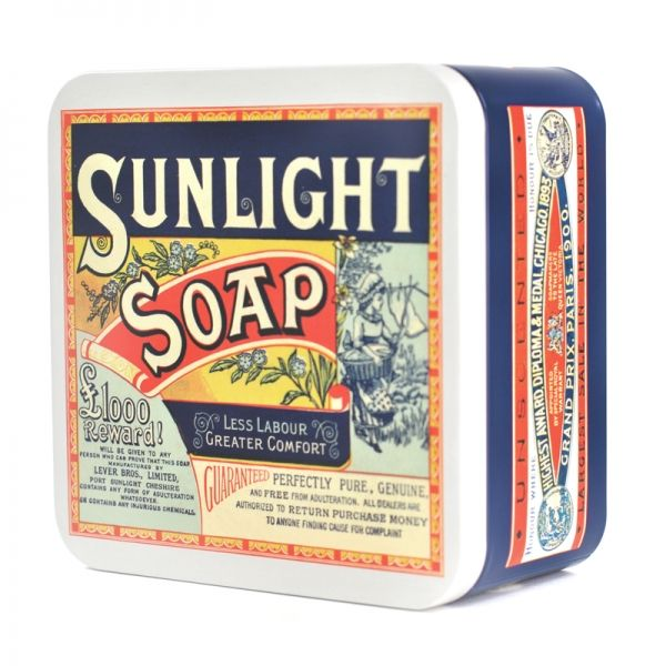 Sunlight Soap Metal Storage Tin