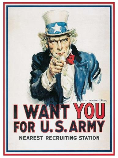 Uncle Sam - A3 Metal Wall Sign