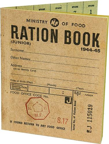 World War Two Ration Book Replica