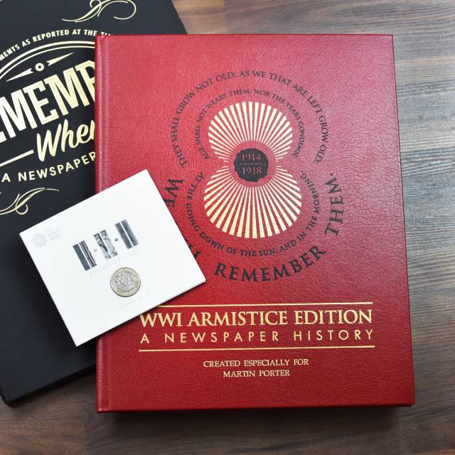 WWI Armistice Edition Newspaper Book