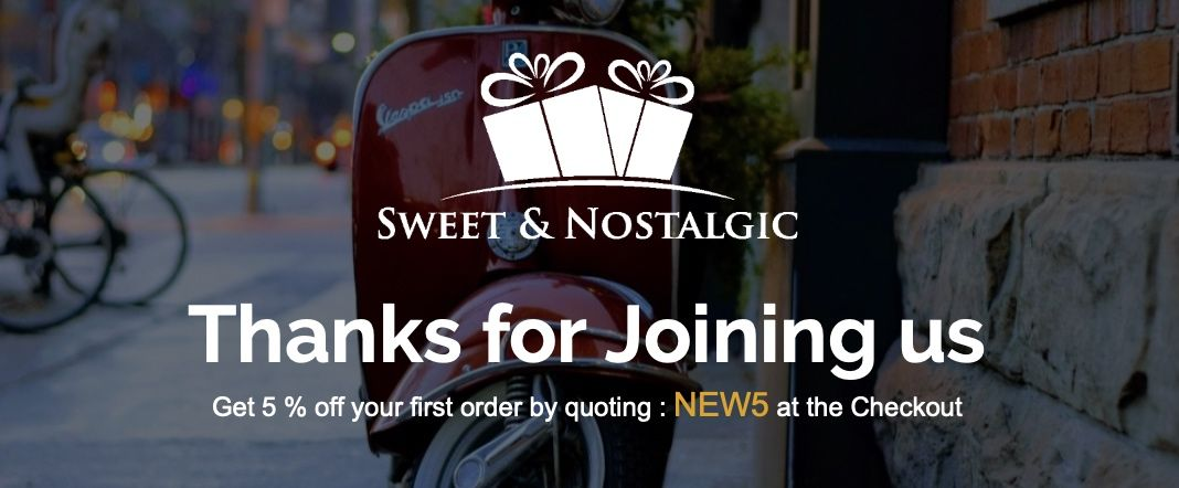 Sweet and Nostalgic Newsletter Sign Up