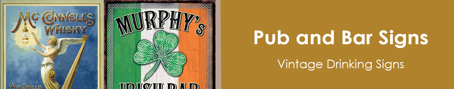 Vintage Pub Signs. Bar Signs for the Home Bar from Sweet and Nostalgic